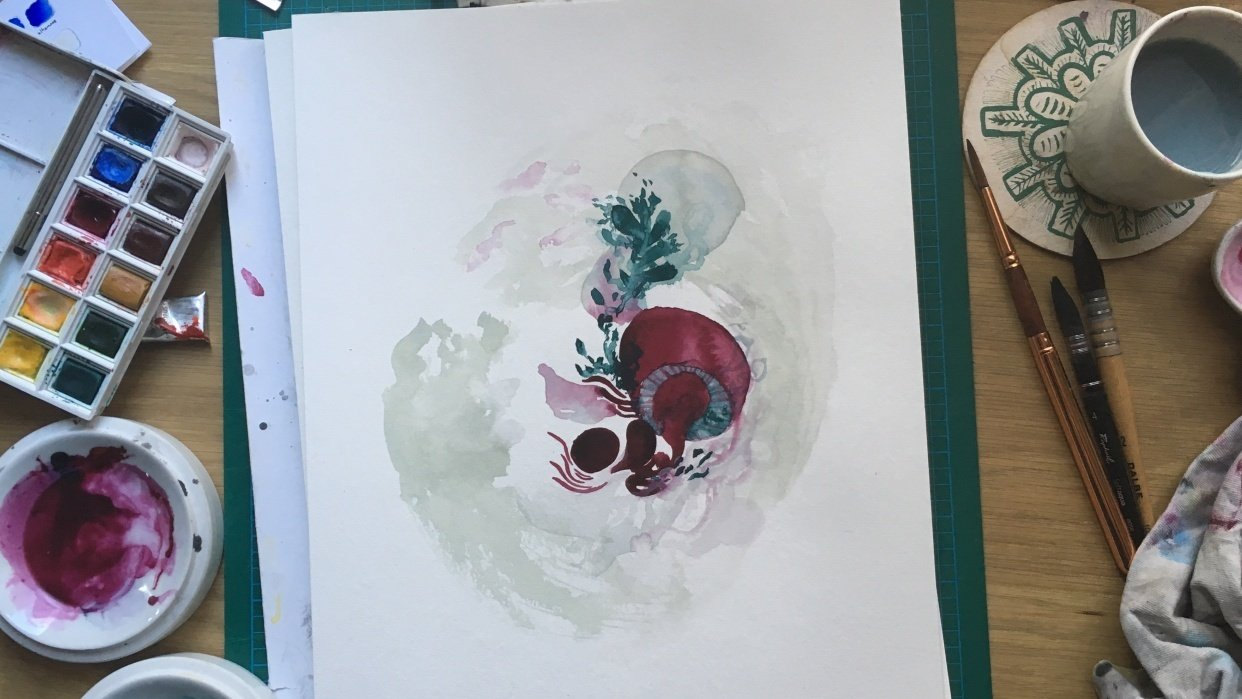 [Sample project] The wonderful world of watercolor - student project