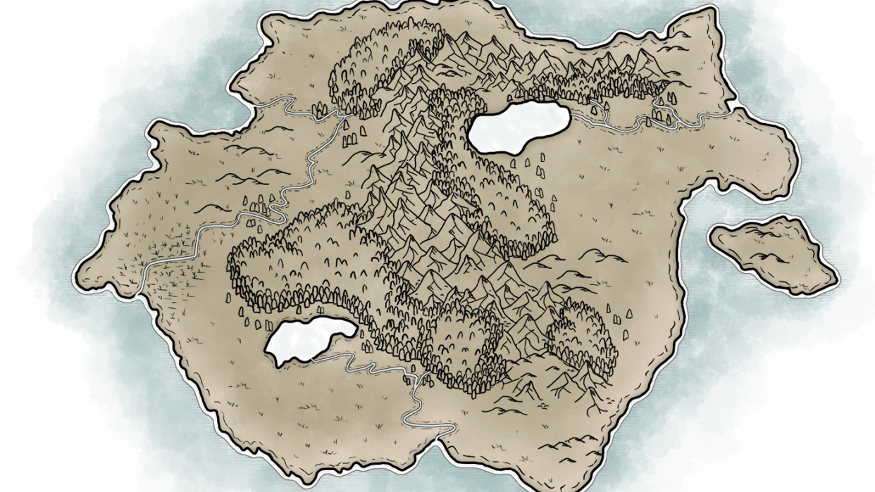 Map of Temaria (II) - student project