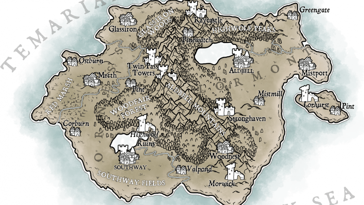 Map of Temaria (III) - student project