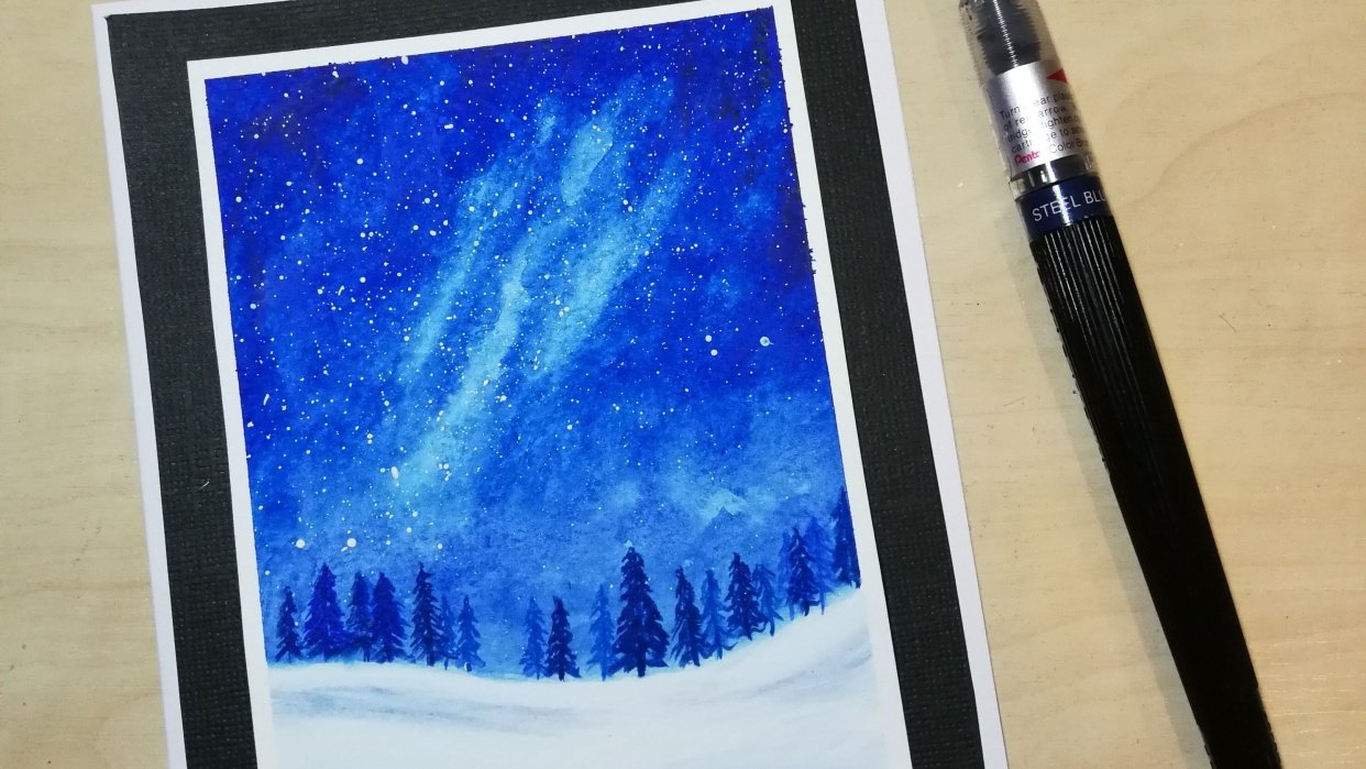 Snowy Galaxy Landscape - student project