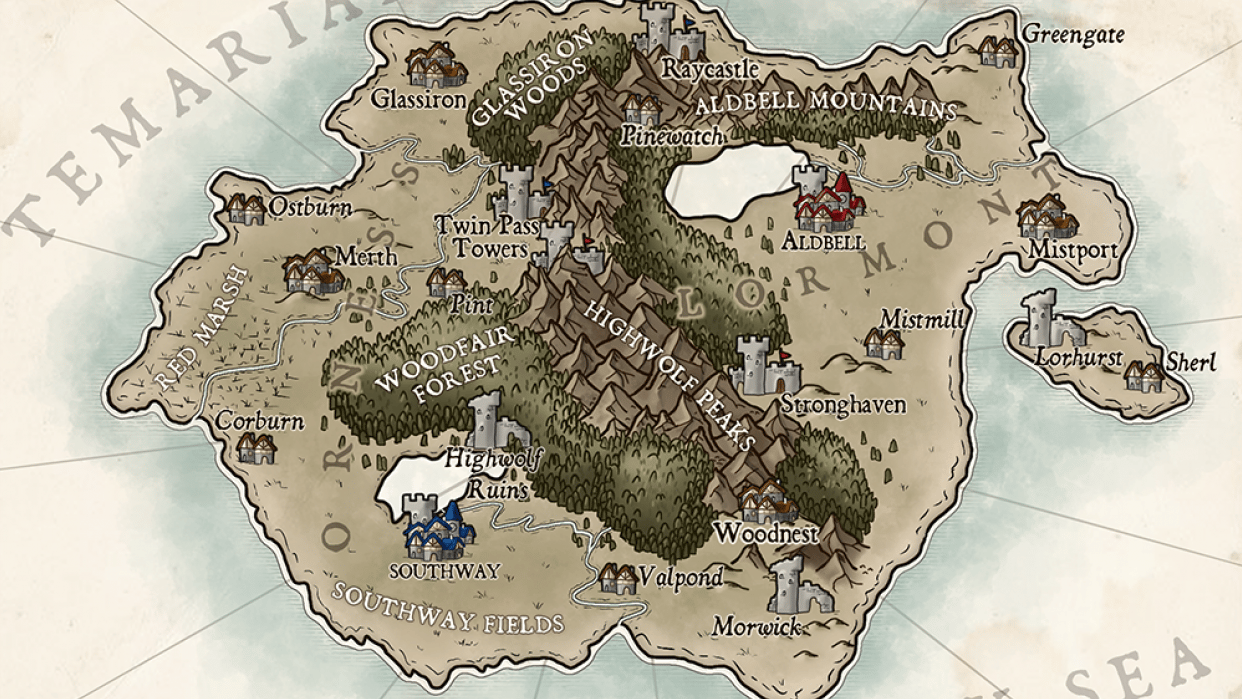 Map of Temaria (IV) - student project