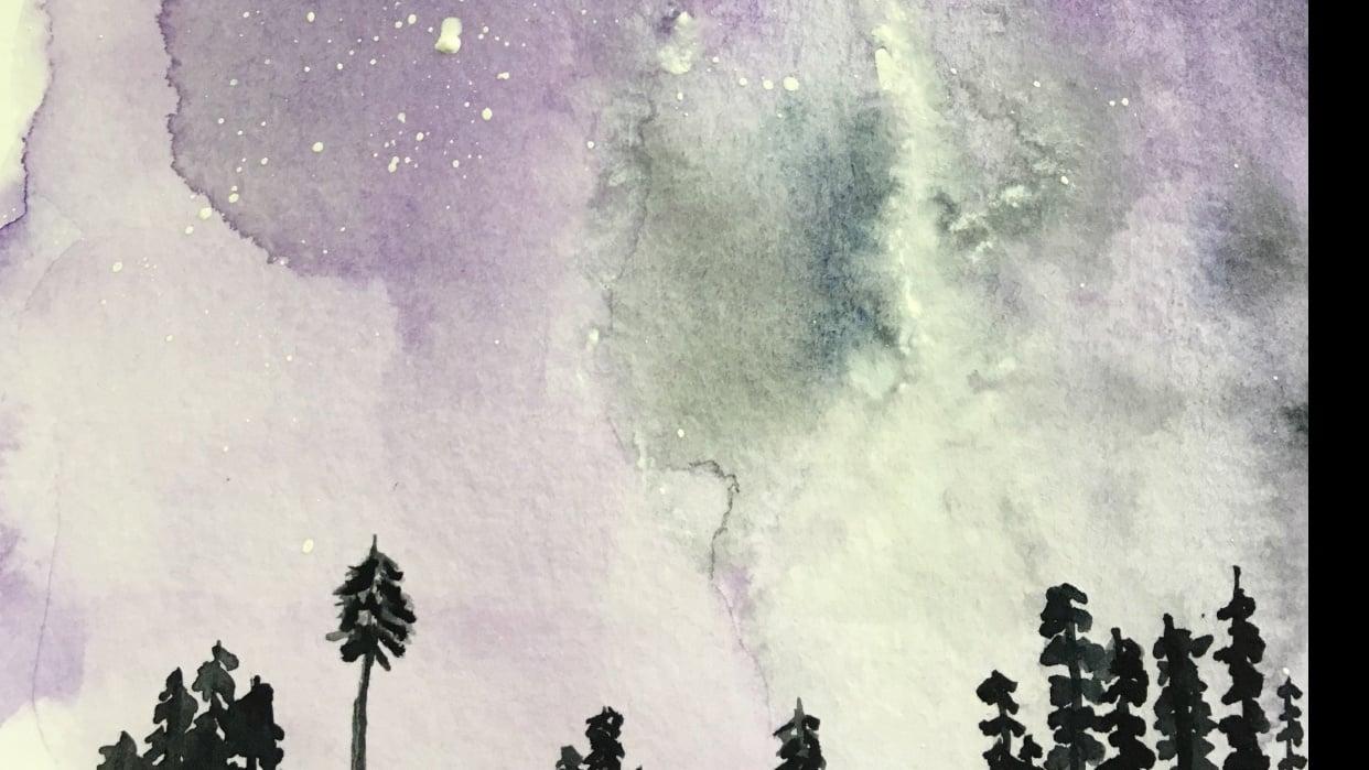 violet sky - student project