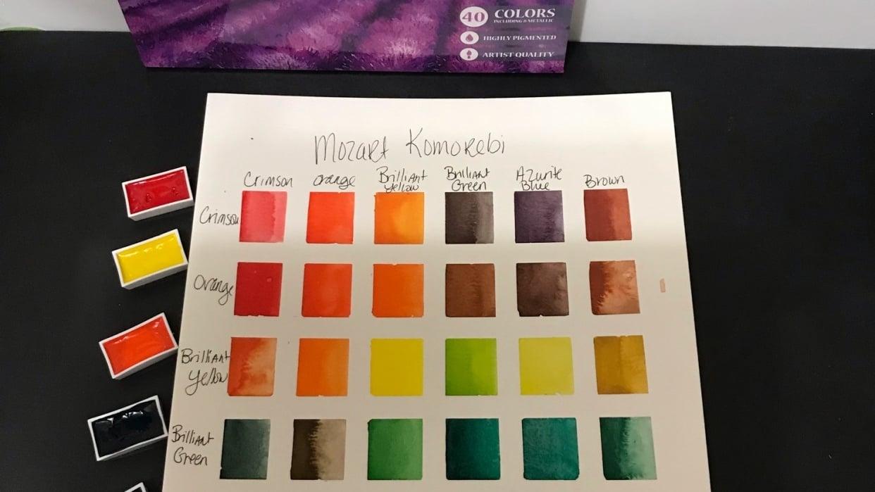 Mozart Komorebi Color Chart - student project