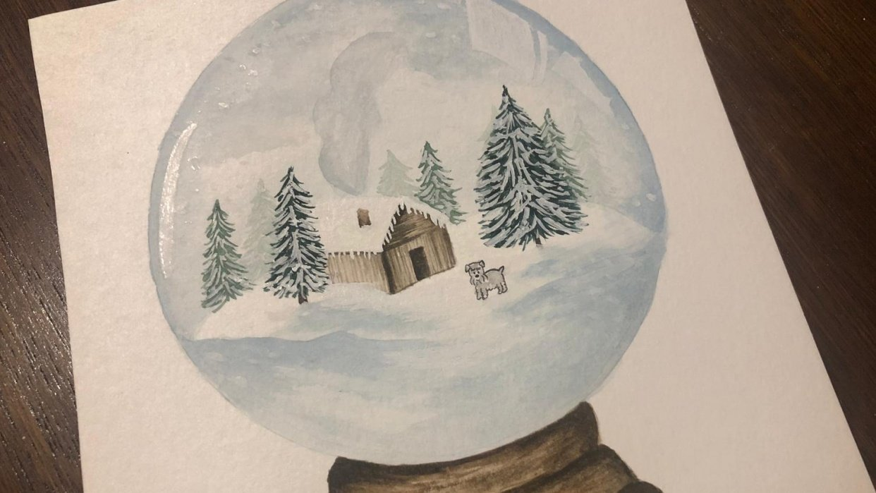 Winter themed Snow Globes - student project