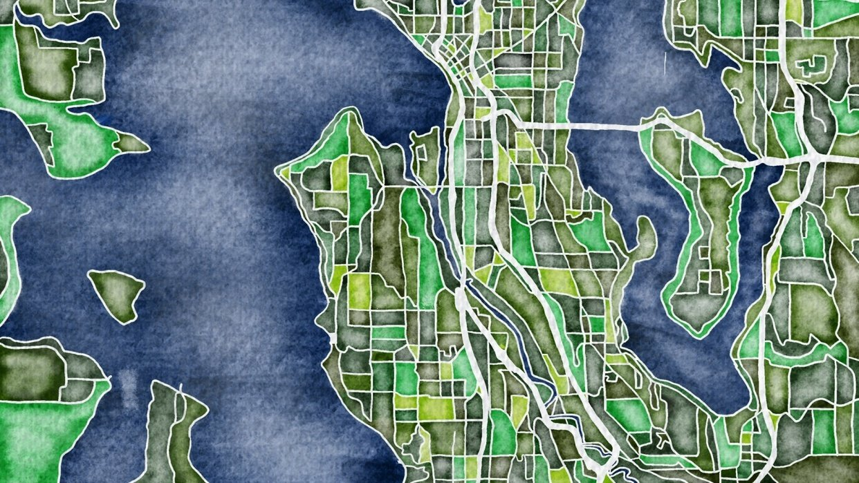 Illustrated Map- Seattle - student project