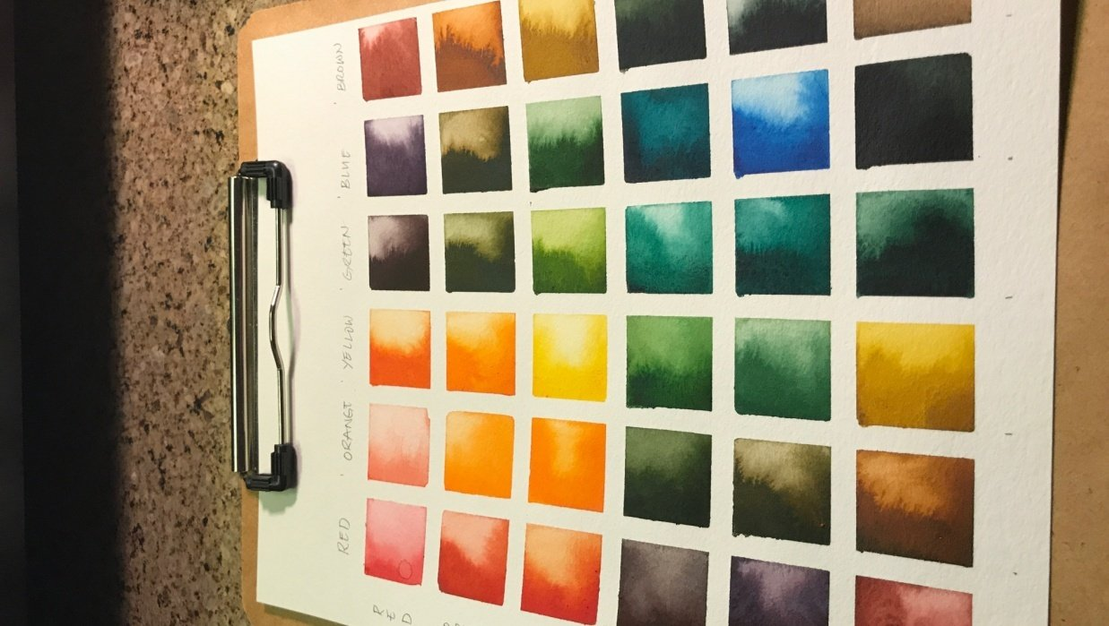 Earth tones color palette - student project