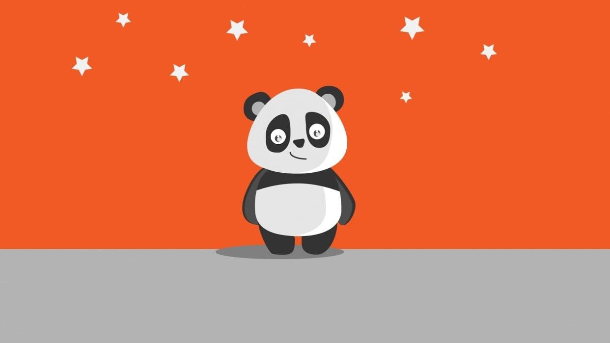 Panda Art,Paper Art - student project