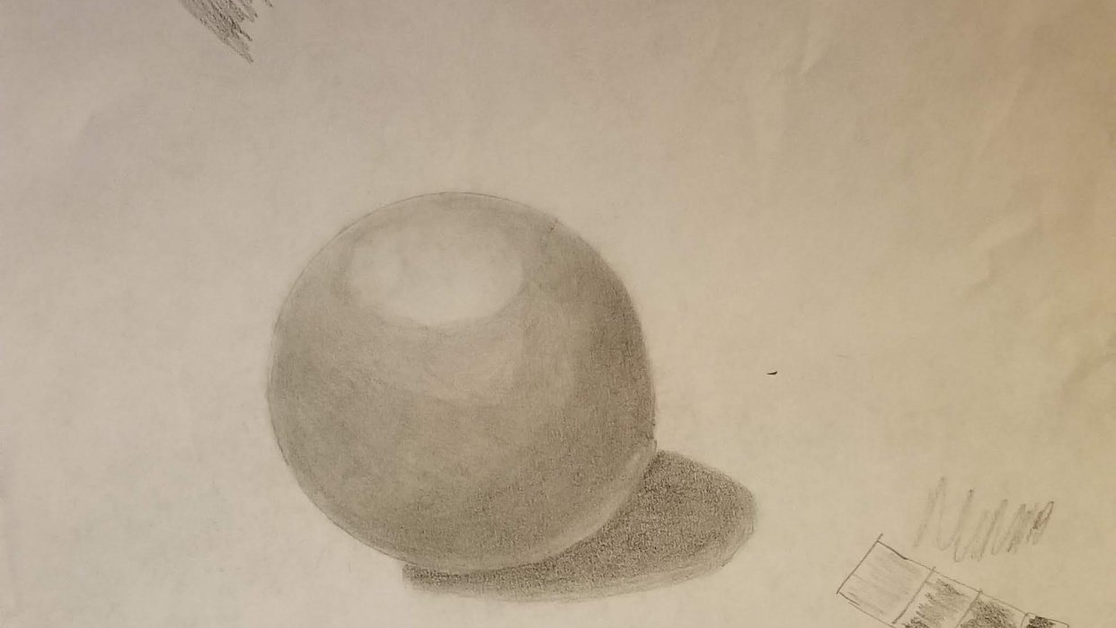 Sphere with shading - student project