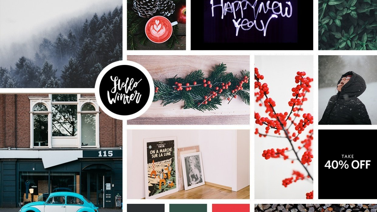 Winter Moodboard - student project