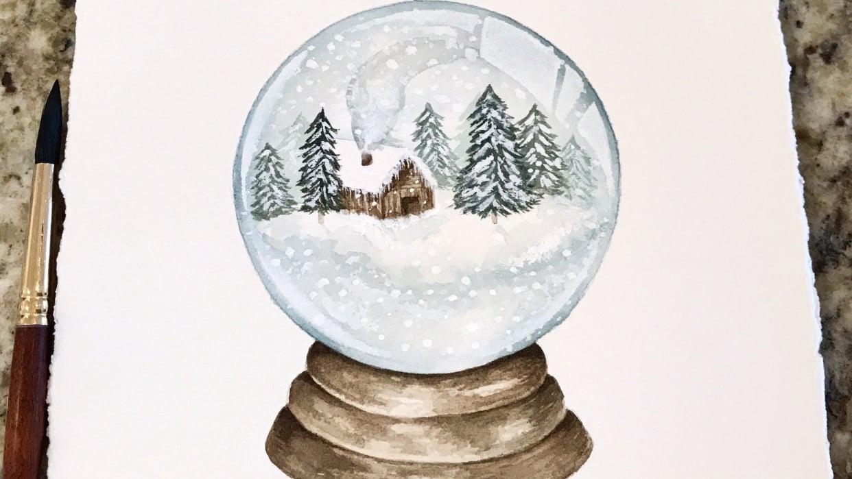 Cabin Snow Globe - student project