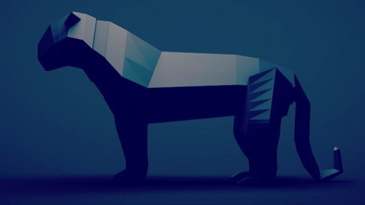 Low Poly Panther - student project