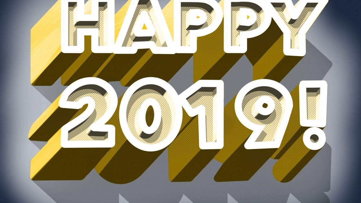 3D lettering - Happy 2019! - student project
