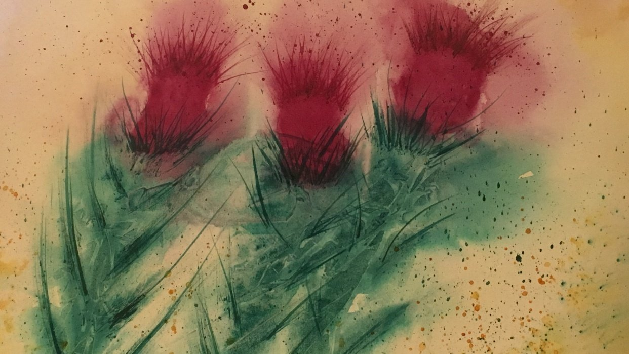 Abstract Thistles - student project