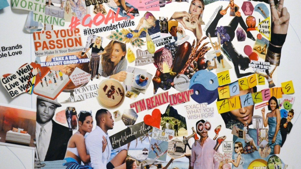 Sample Vision Board Project - student project