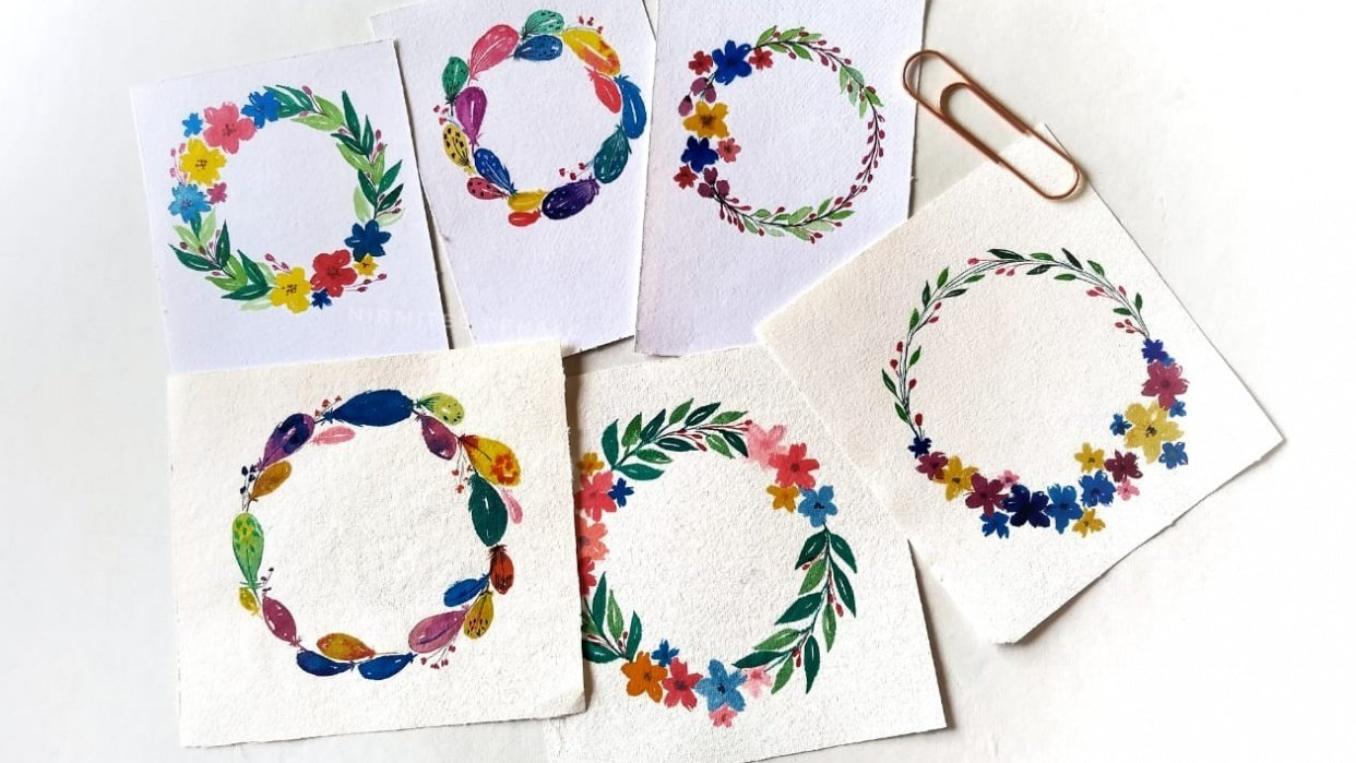 Floral Wreaths - student project
