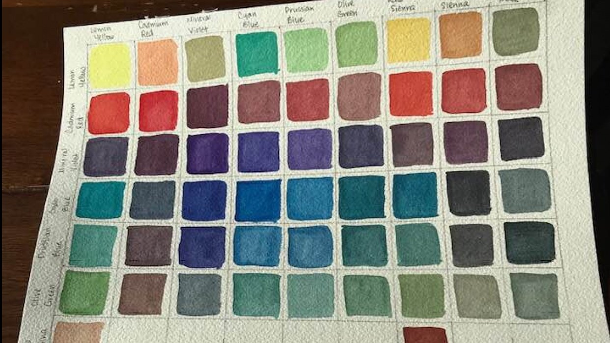 Base Color Chart - student project