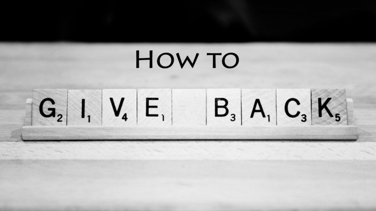 How to Give Back - student project