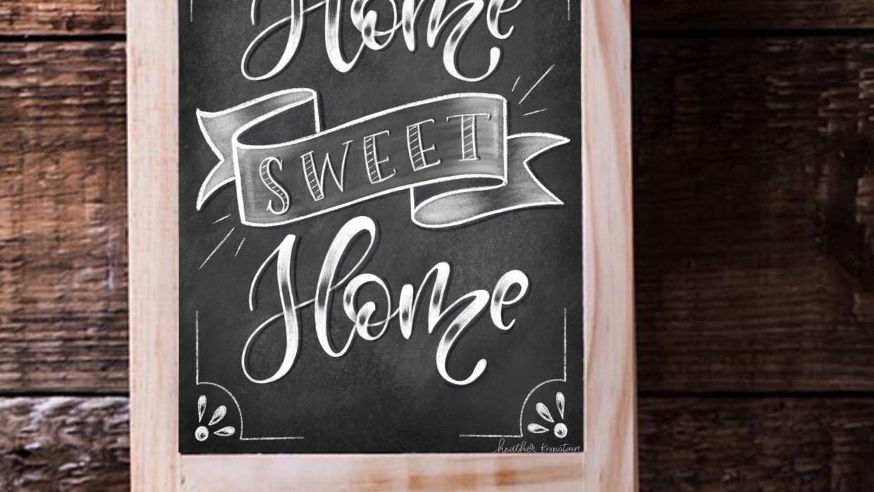 Chalk lettering - student project