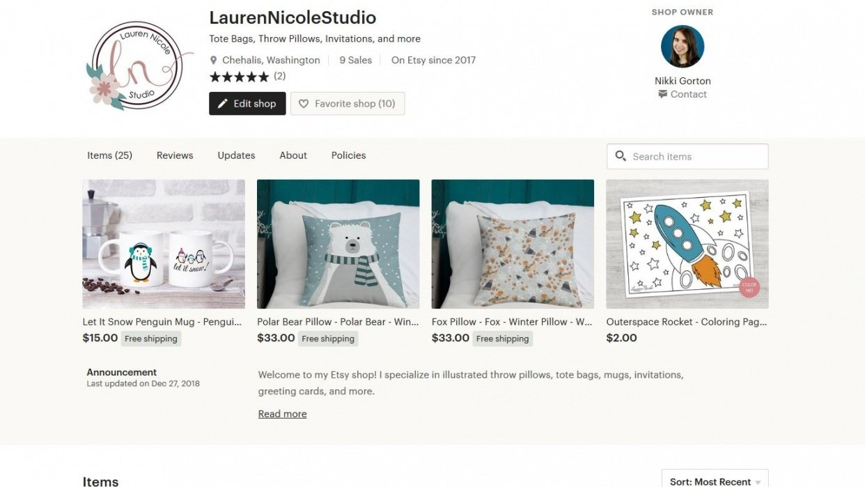 Selling Tote Bags, Throw Pillows, Invitations, and more - student project