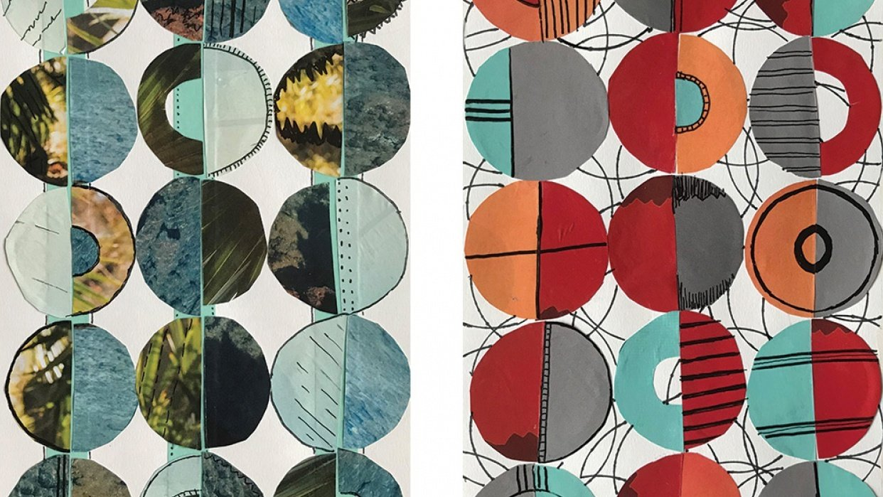 Two Variations of the Circle Collage - student project
