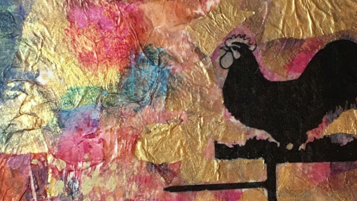 Weather vane mixed media - student project