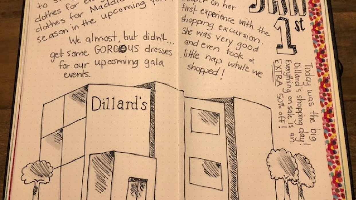 Dillard's shopping day - student project