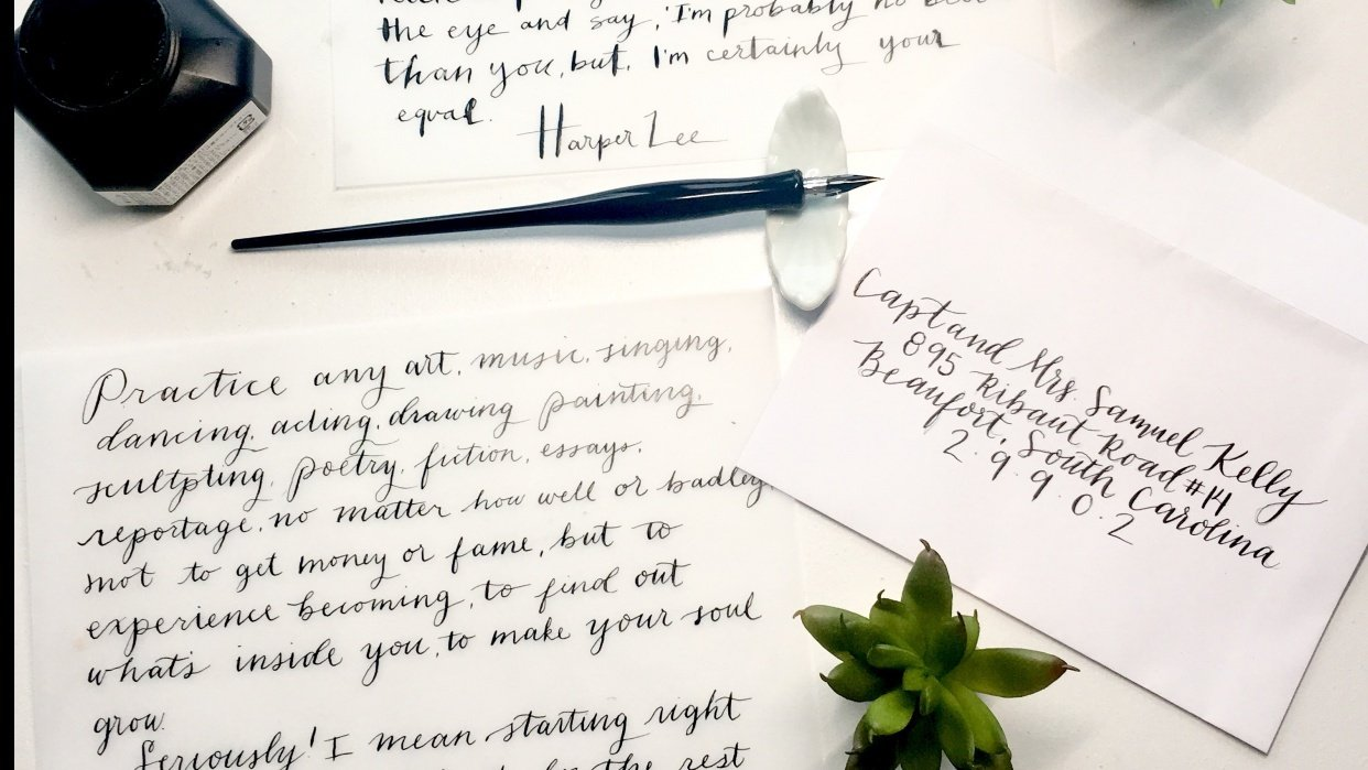 Notes, Poems and Envelopes - student project