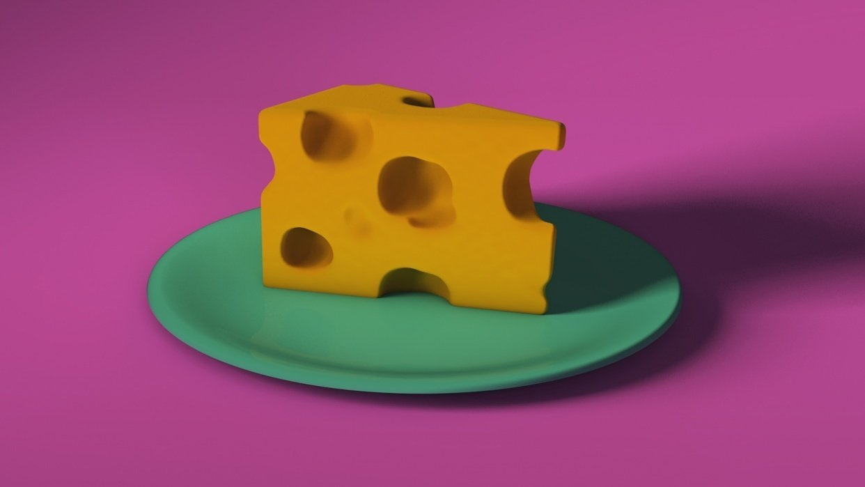 Spining cheese plate - student project