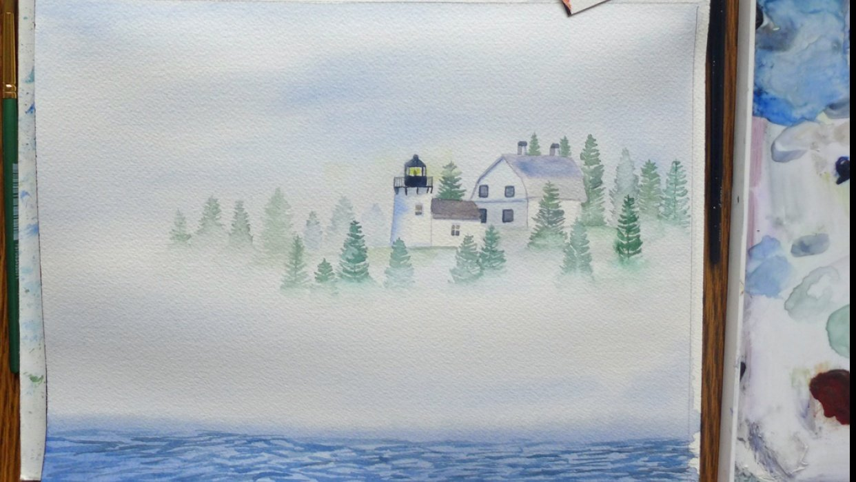 Painting Fog with Watercolors - student project