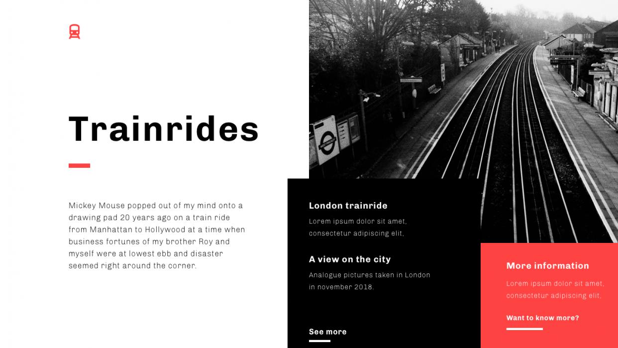 London slideshow - student project