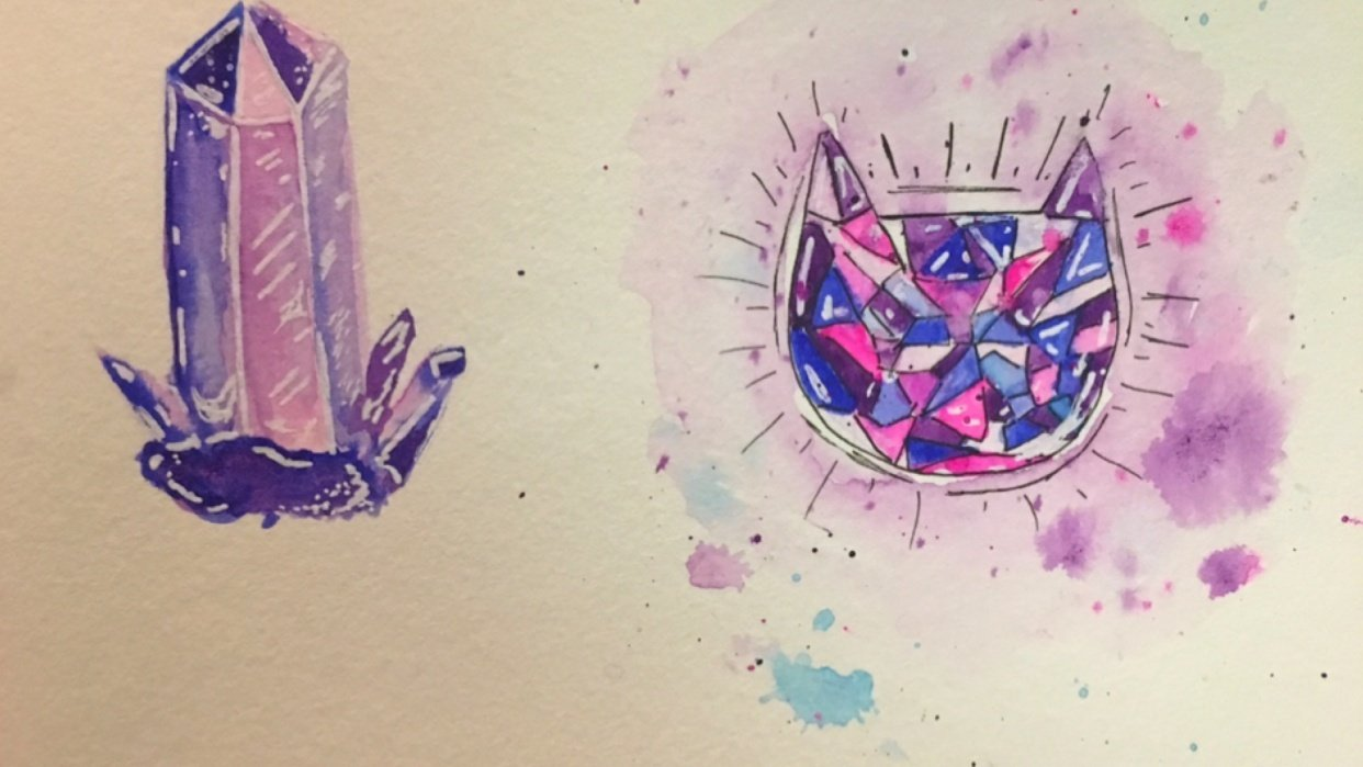 Crystals and Gems Practice - student project