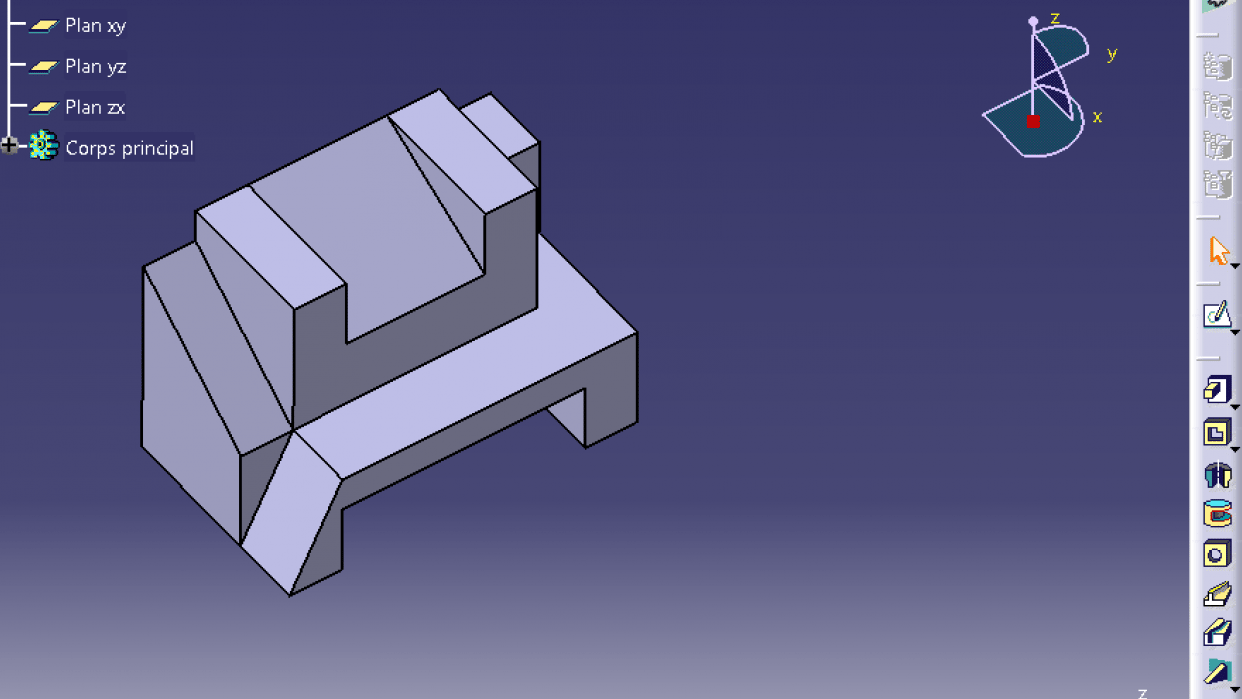 create 3D objects using CATIA V5 - student project
