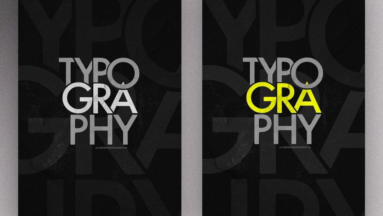 Typography Only Poster Challange - student project