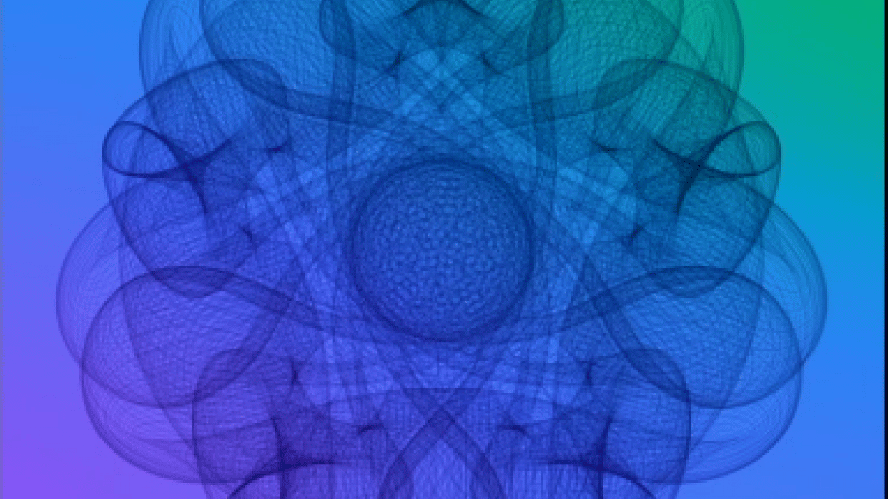 Mandala created with Processing 3 — Who knew math could be so much fun!! - student project