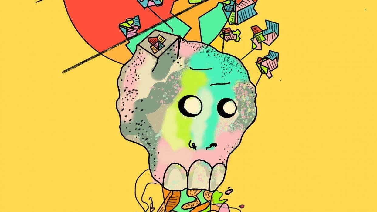 flower skull - student project