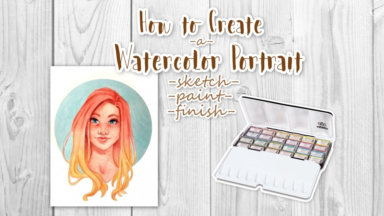 How to Create a Watercolor Portrait - student project