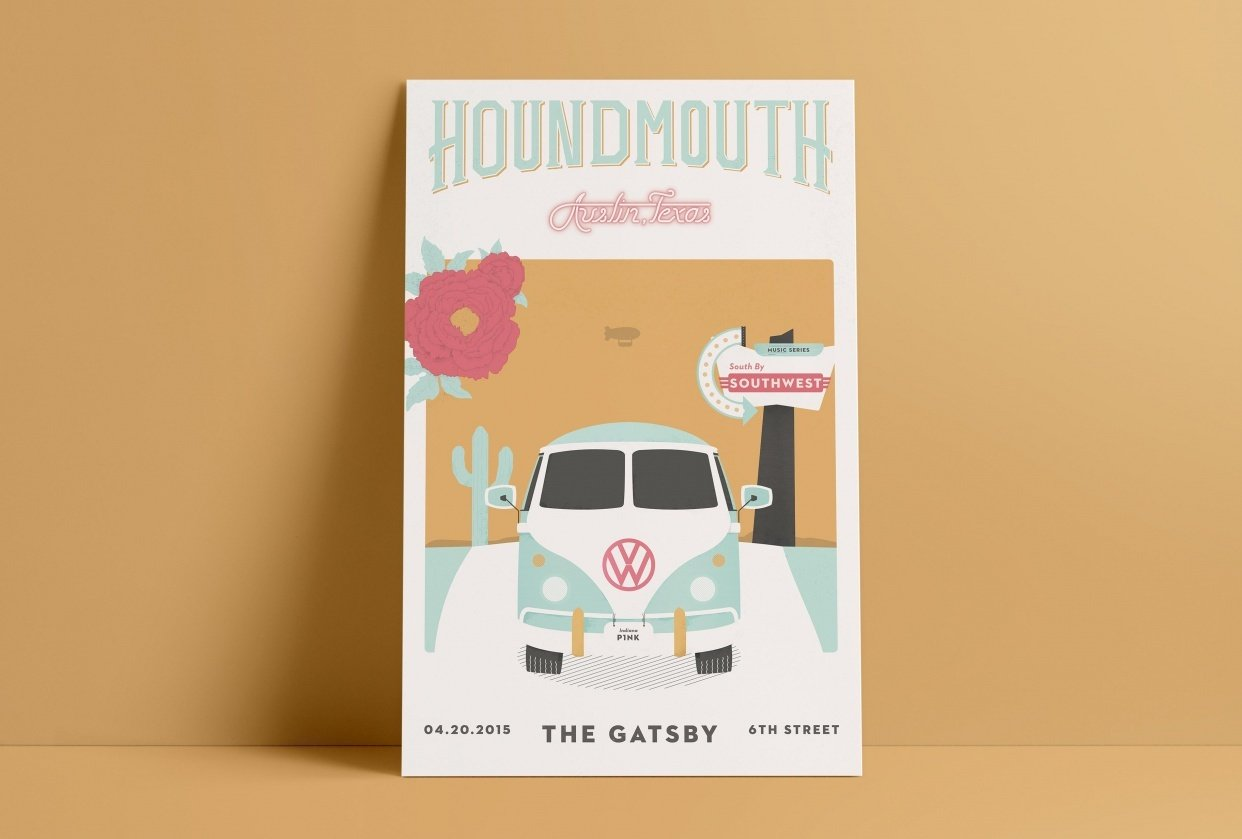 Houndmouth Gig Poster - student project
