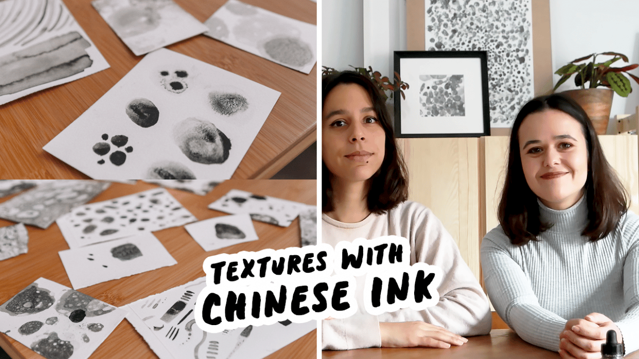 Create Your Own Textures With Chinese Ink - student project