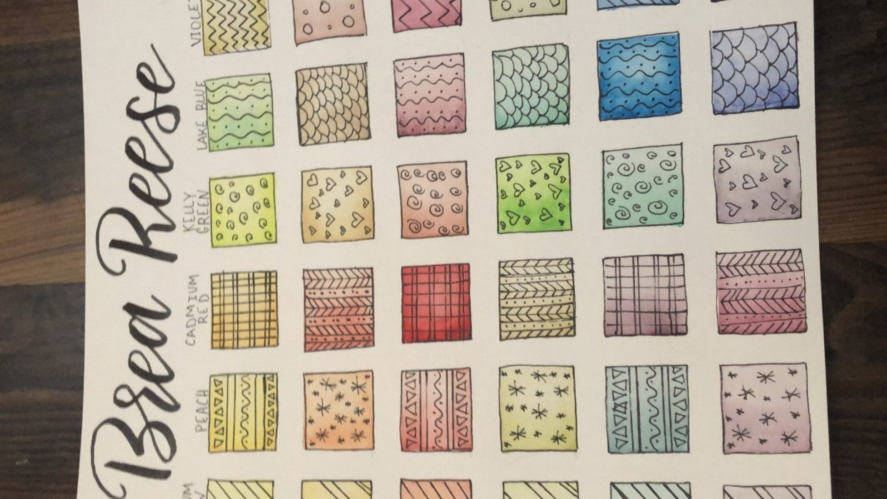 Noemi's color chart - student project