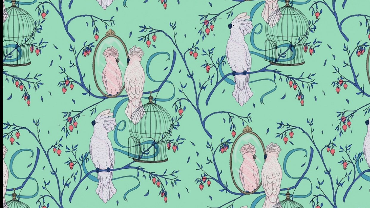 Cockatoo pattern - student project