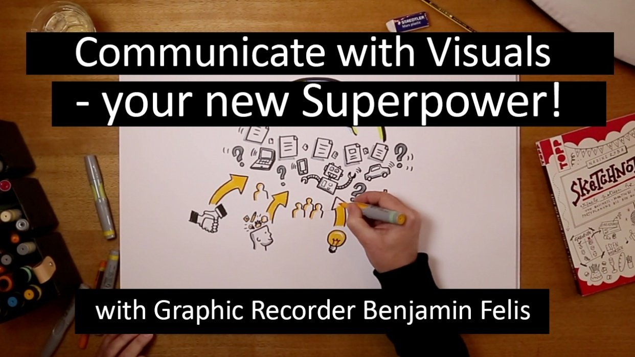 """""""Communicate with visuals - your new superpower!"""" - student project"""