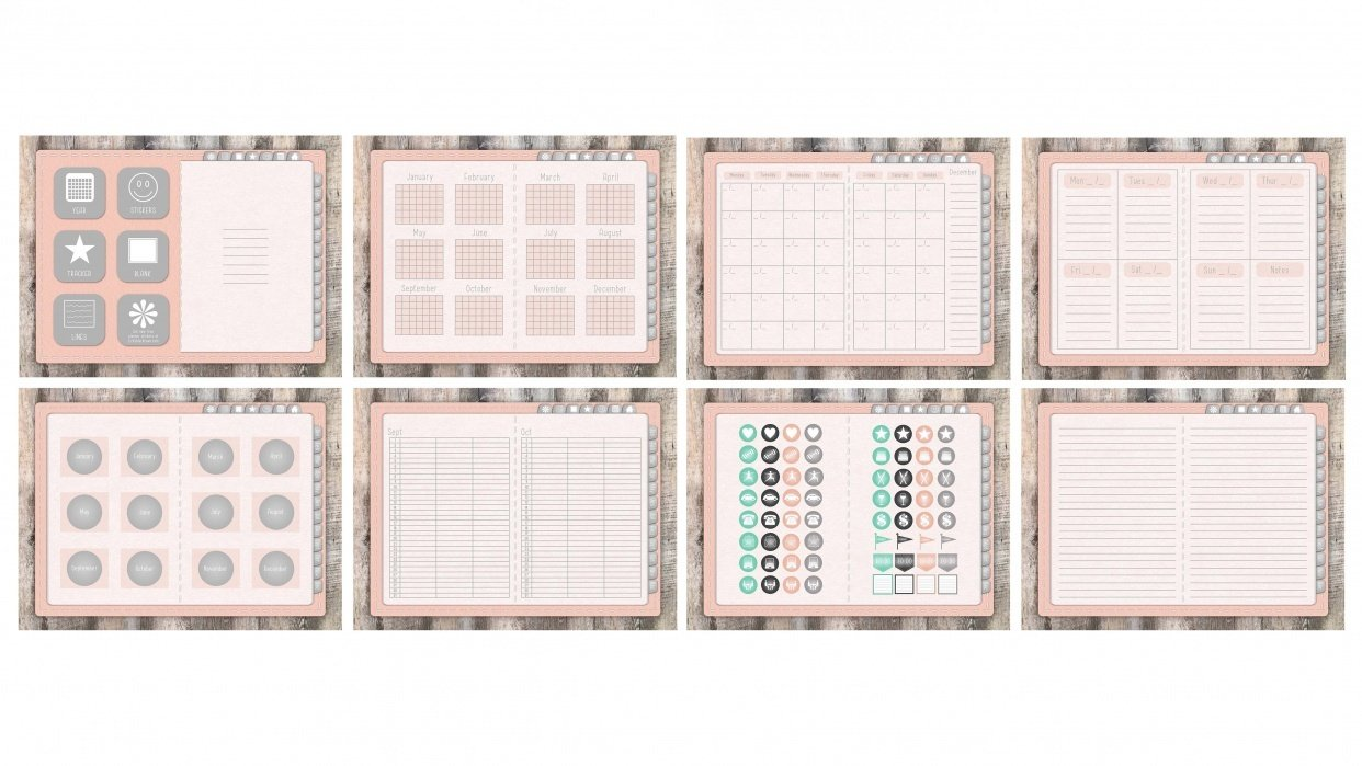 Pastel Pink Planner - student project