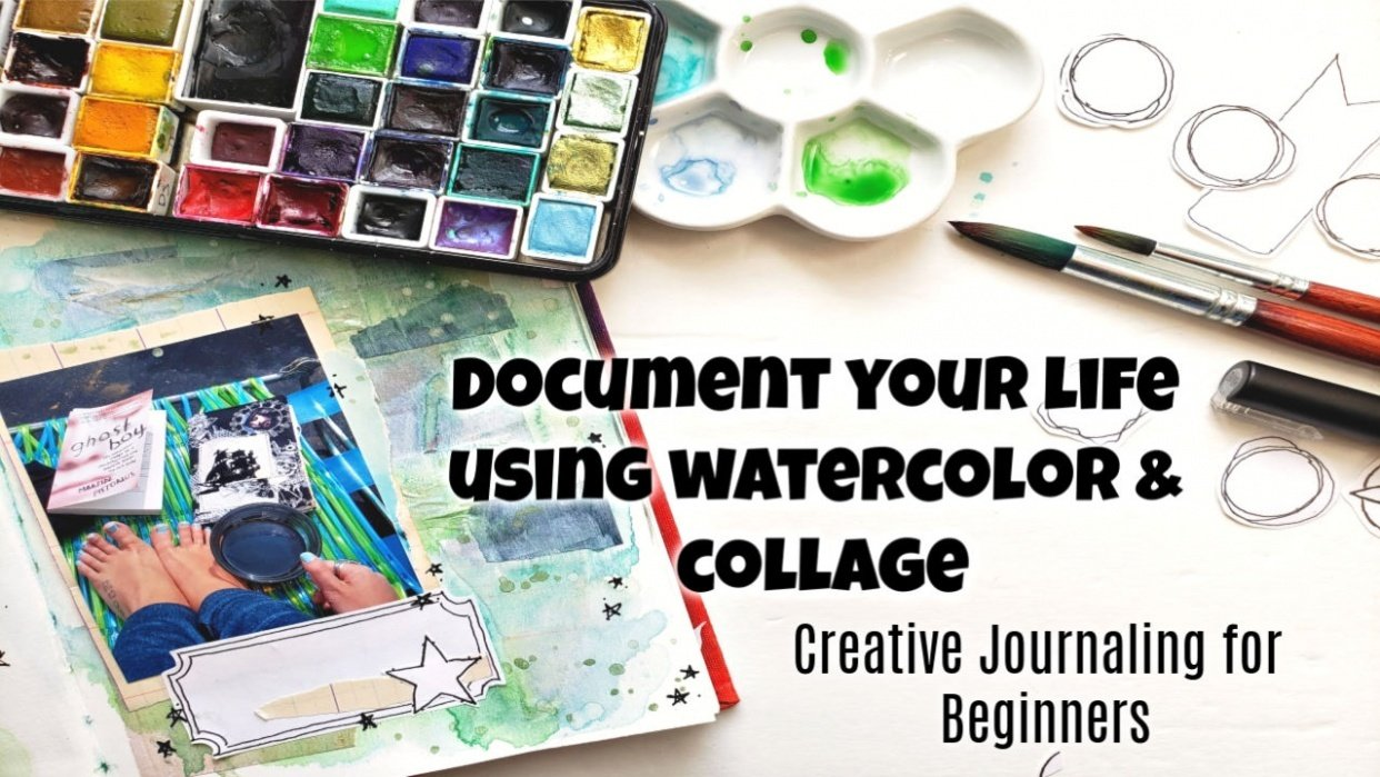 Building a Creative Journal Page with Watercolor and Collage - student project