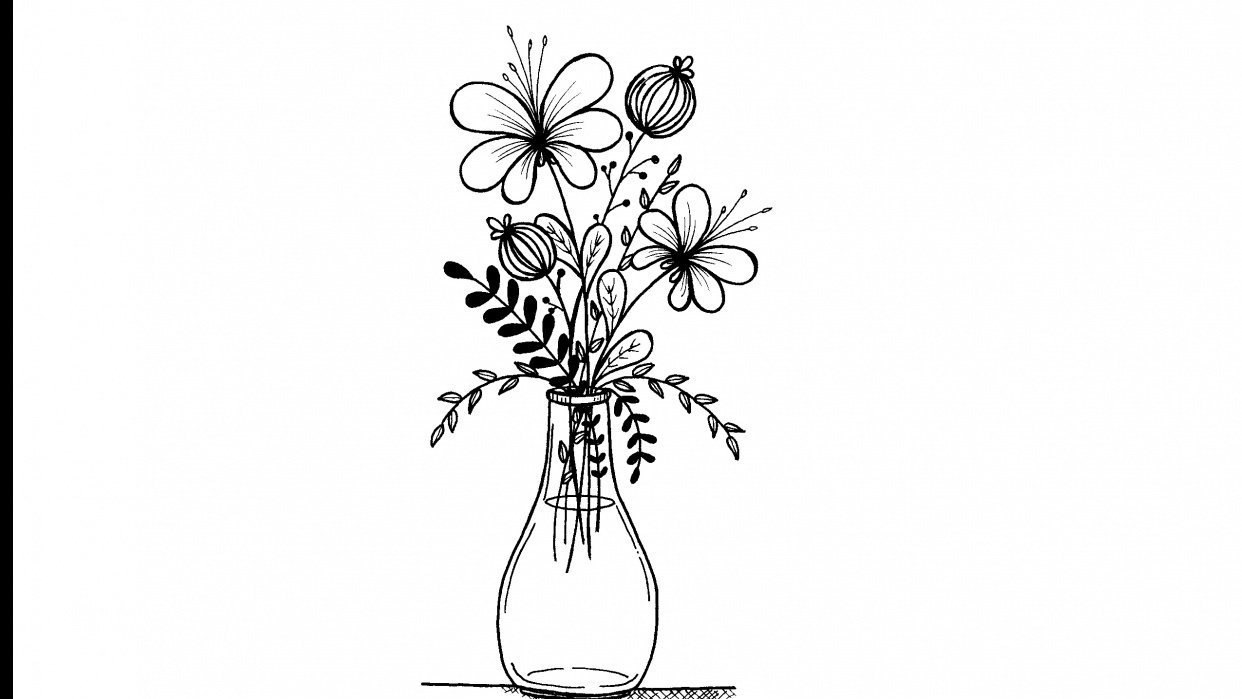 flower and leaf doodles - student project