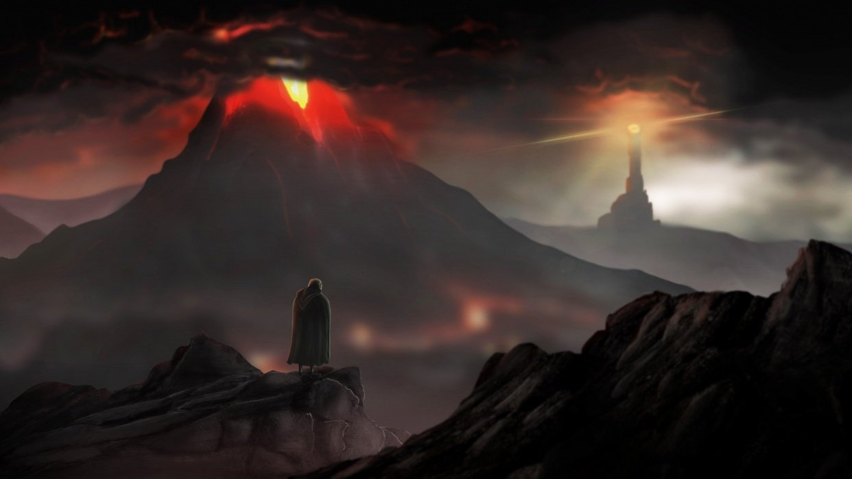 Sam beholding Mordor - student project
