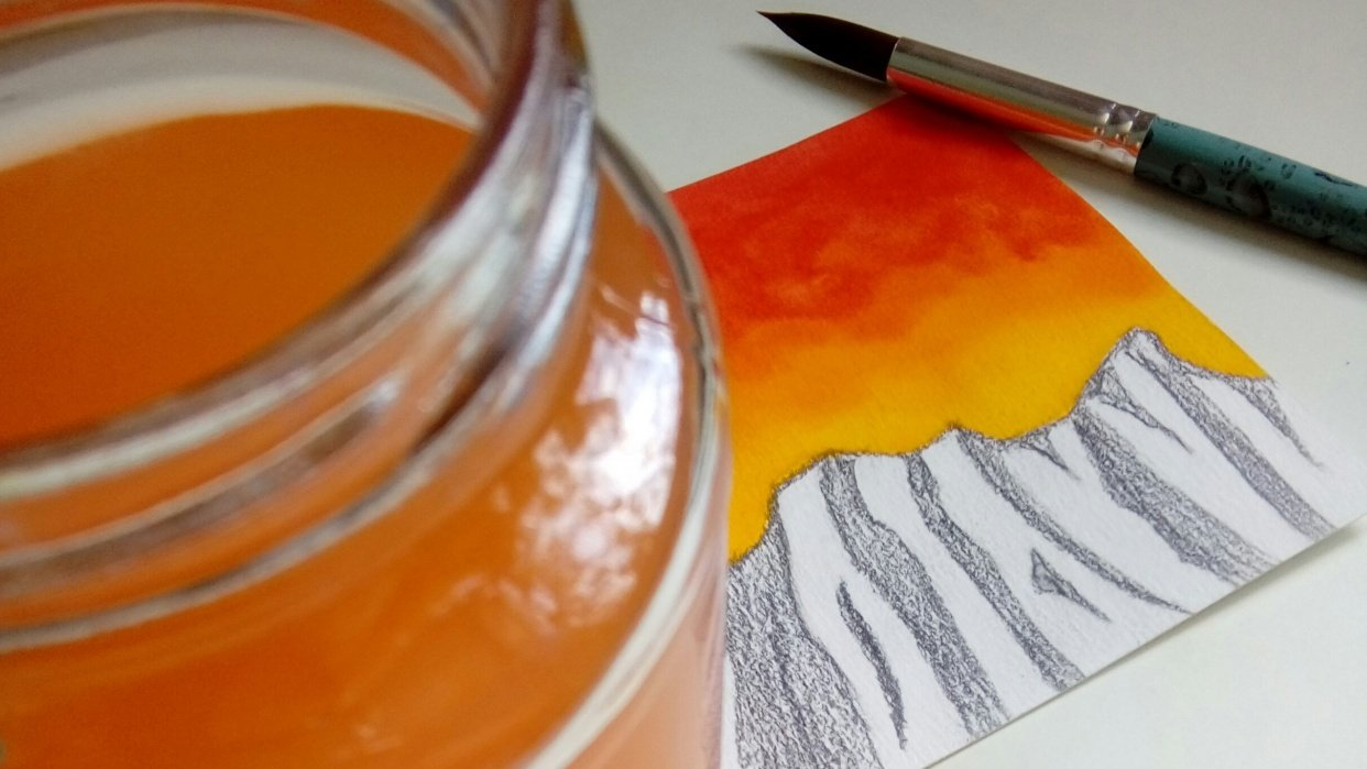 Watercolor Trends 2019 - student project