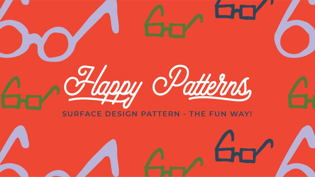 Happy Patterns   Surface Design Pattern - The Fun Way! - student project