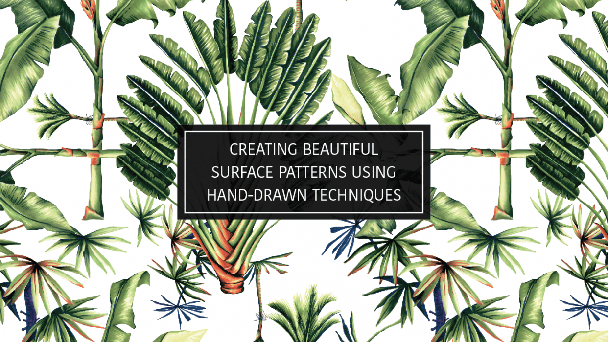 Creating Beautiful Surface Patterns Using Hand-Drawn Techniques - student project
