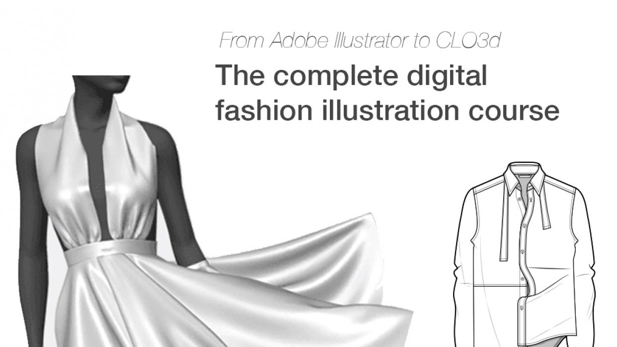 The complete digital fashion illustration course - student project