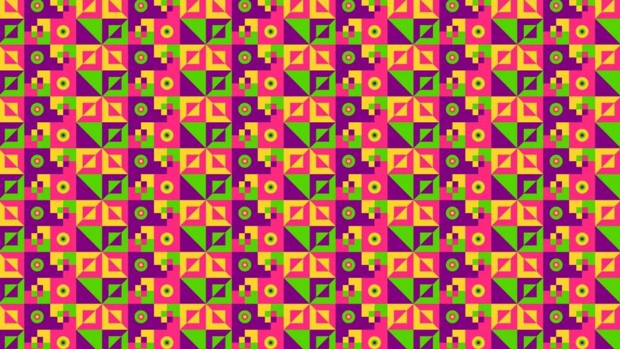 Bright geometric pattern - student project